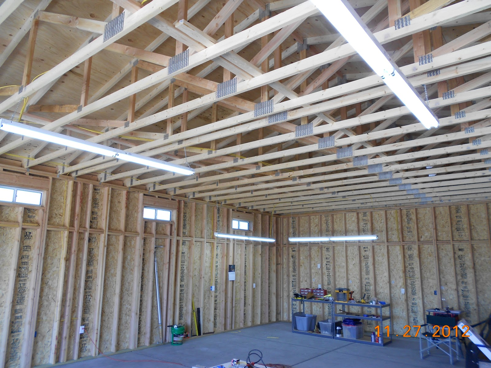 The next step in your garage project, is to remove old drywall and insulation. This can be a lengthy process depending on the size of your garage