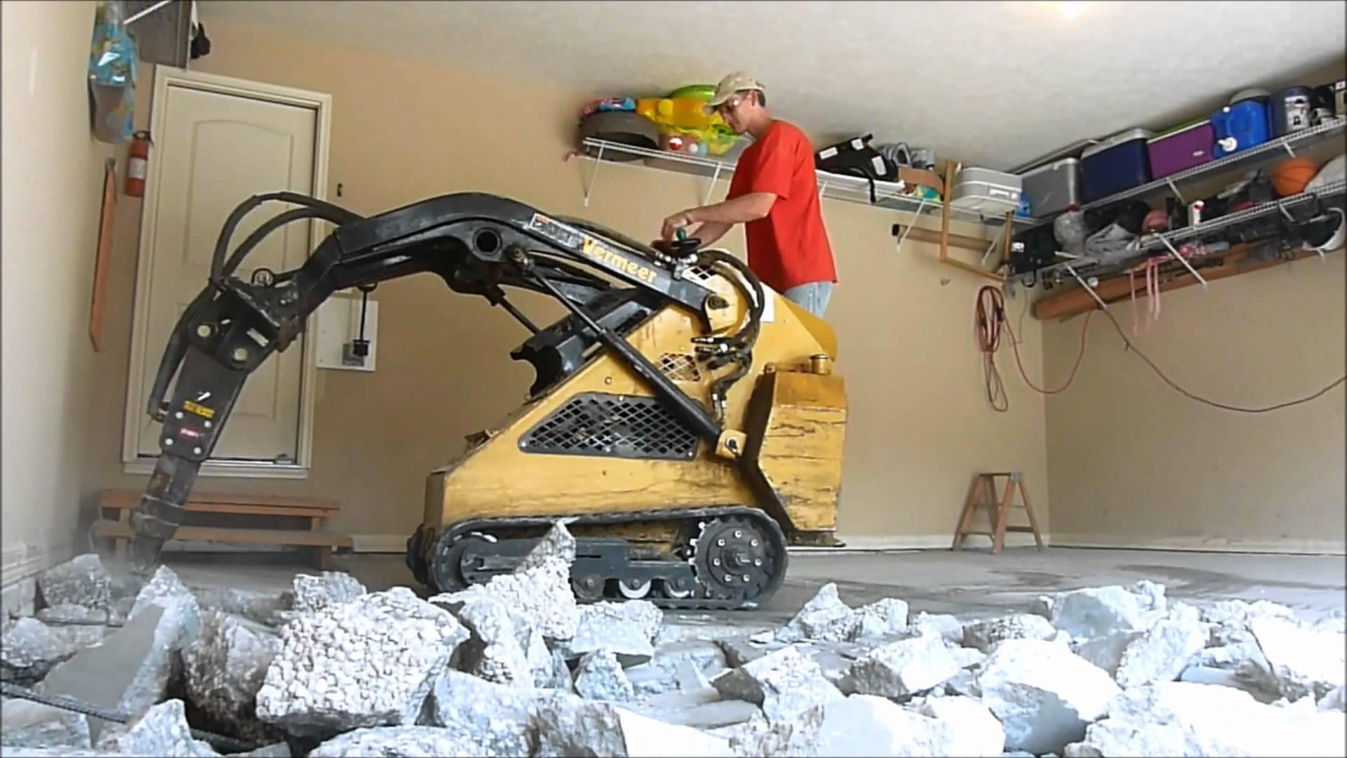 Step 3 remove old floor for Garage slab