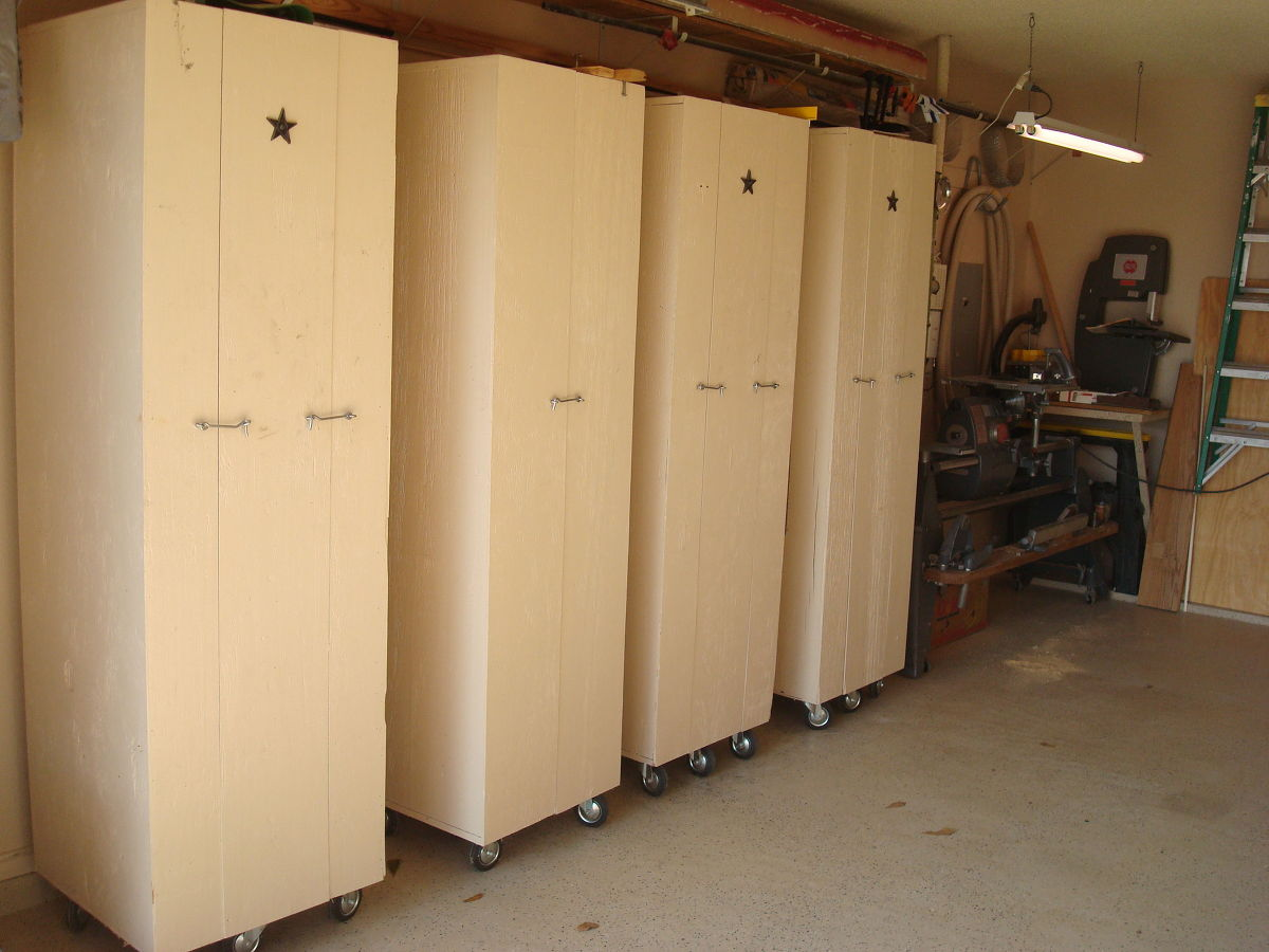 Closed Roll Out Cabinets