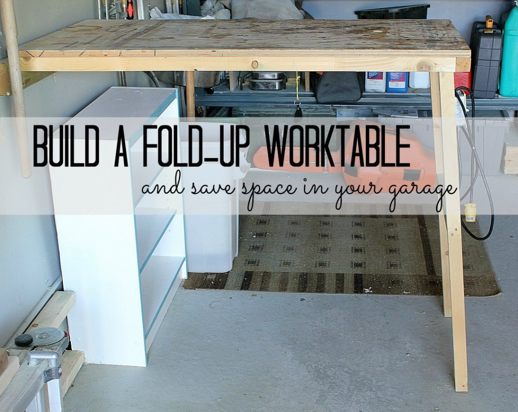 If youre feeling particularly crafty- consider adding a fold away work bench. It works like a Murphys bed, and can really save space (especially in smaller garages)